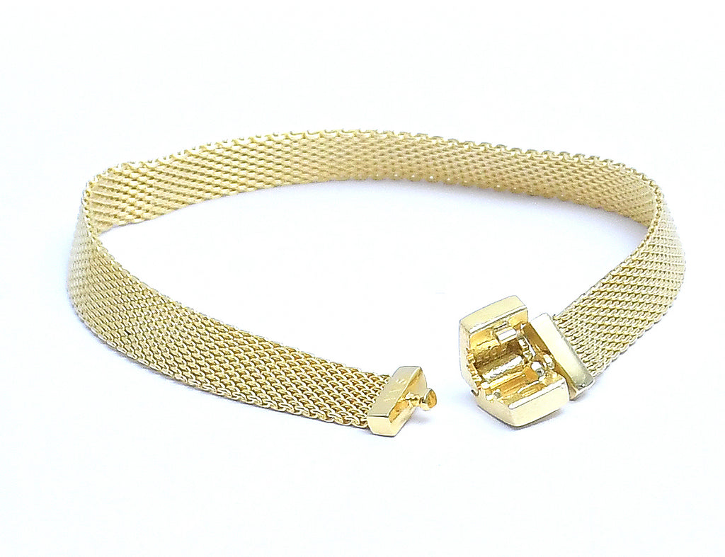 Sterling Silver Gold Plated Chain Unisex Bracelet