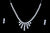 Foldable Sterling Silver Necklace With Earring