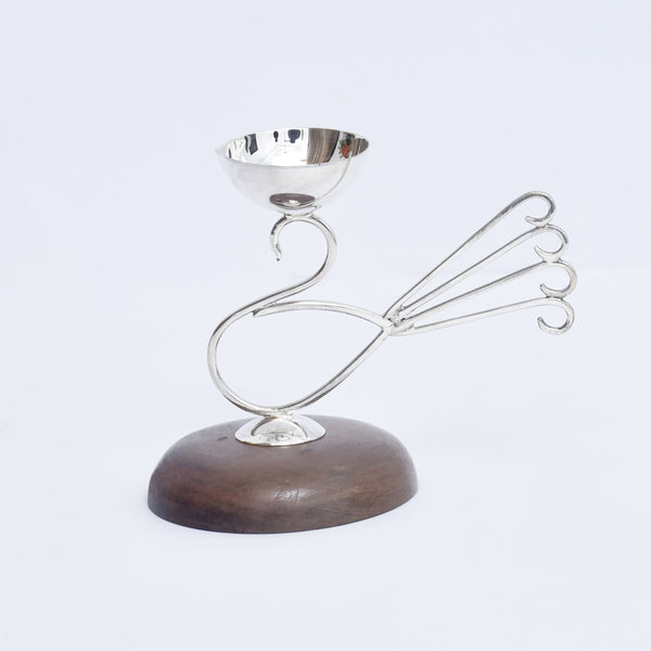 Silver Four Finger Diya