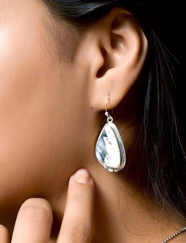 Sterling Silver Claw Shape Drop Earrings