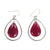 Silver Ruby Hanging Earring