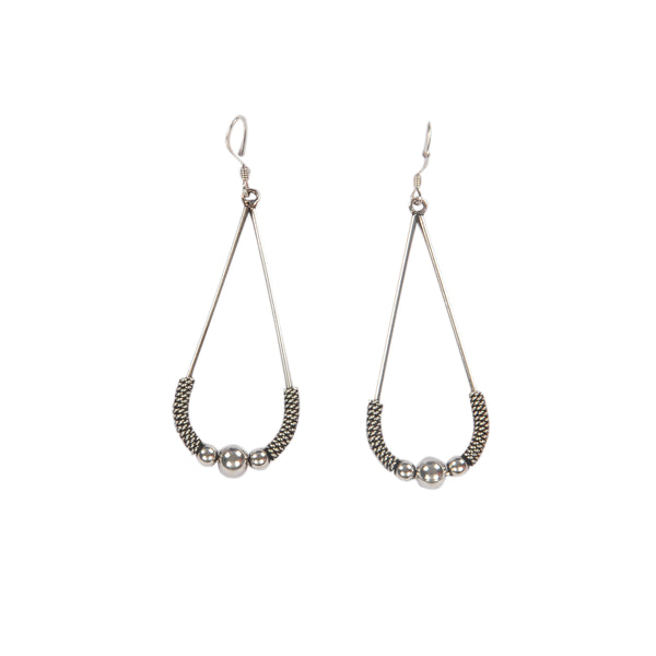 Sterling Silver Oxy Hanging Earring