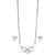 Silver Heart Shape Mangalsutra with Earrings