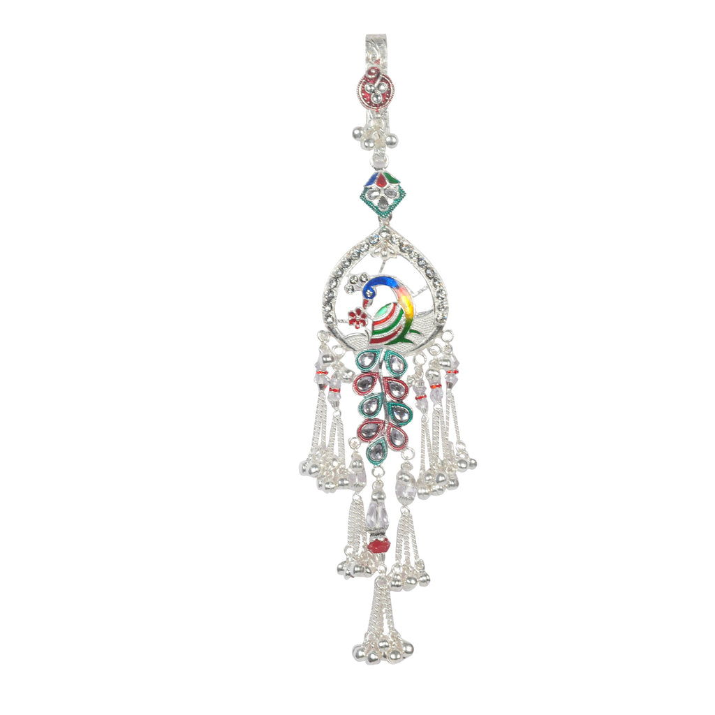 Silver Peacock Belly Kamar Guchha for Women