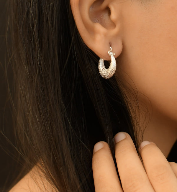 Silver Mini Hoop Earrings