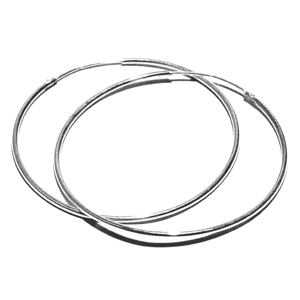 Large Silver Hoop Earring