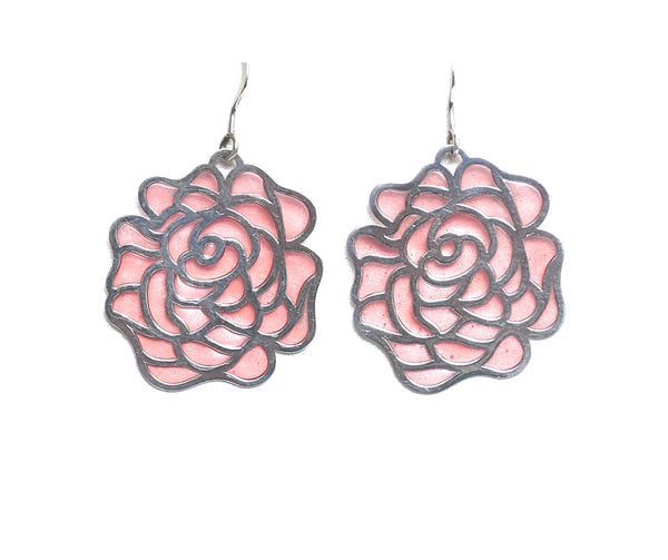 Sterling Silver Cutout Flower Earring