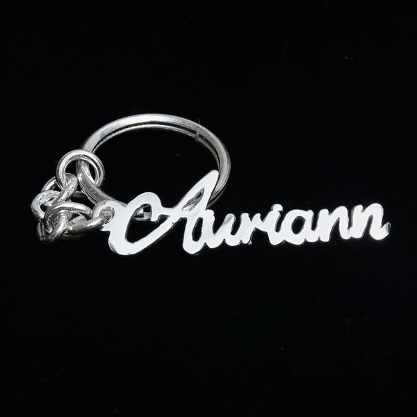 Silver Auriann Key Ring