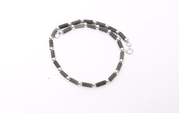 Single Antique Italian Silver Anklet