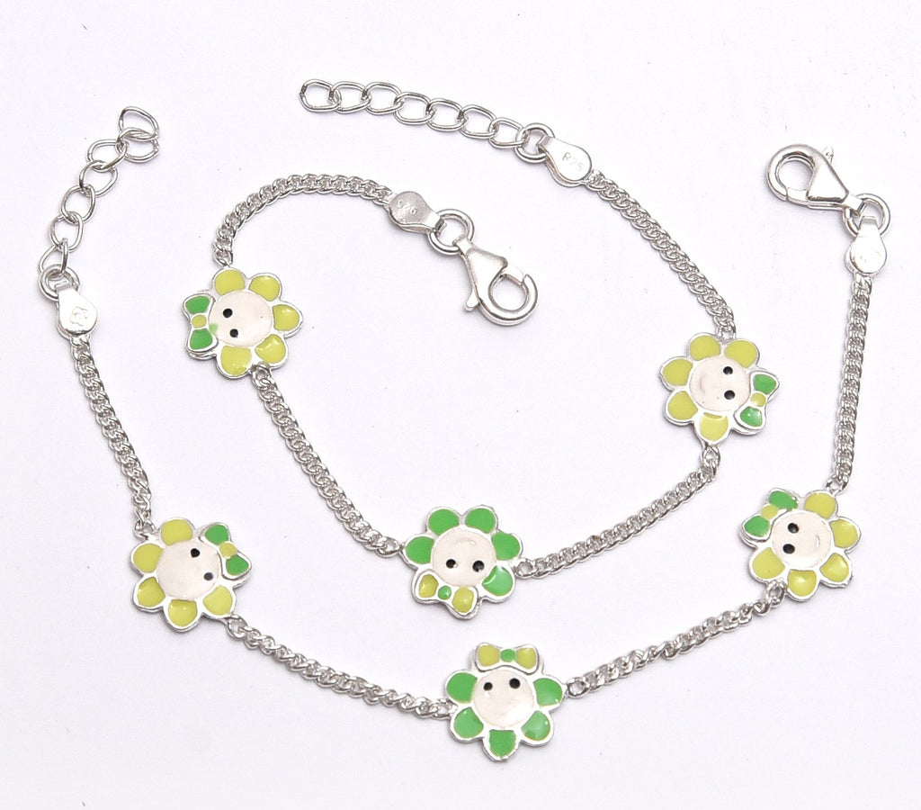 Sterling Silver Sunshine Kids Anklet
