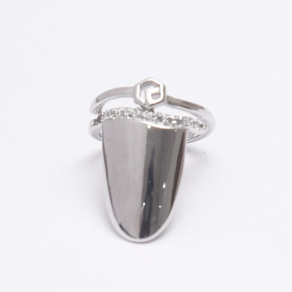 Silver Adjustable Simple Nail