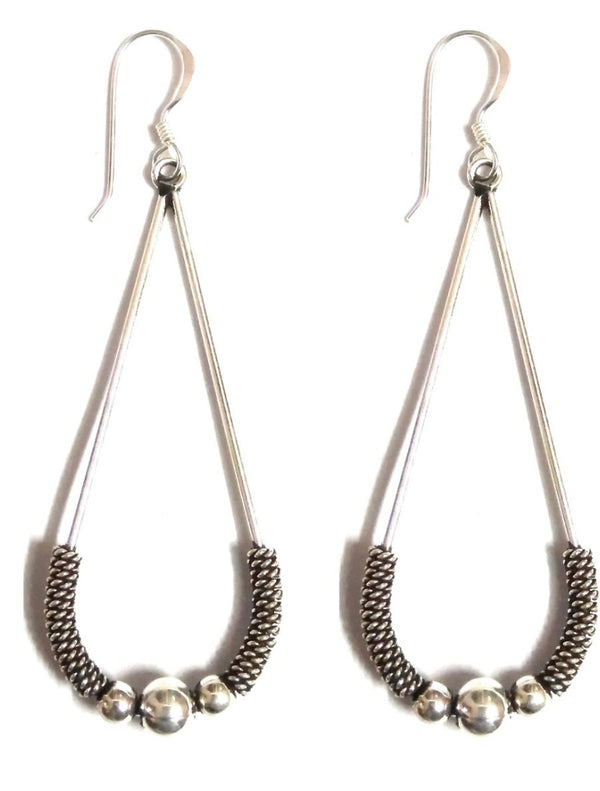 RITI- Oxidised Sterling Silver Hanging Earring