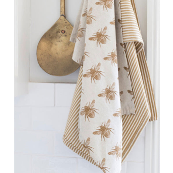Raine & Humble Honey Bee Tea Towel Set of 2 - Floral Affaire