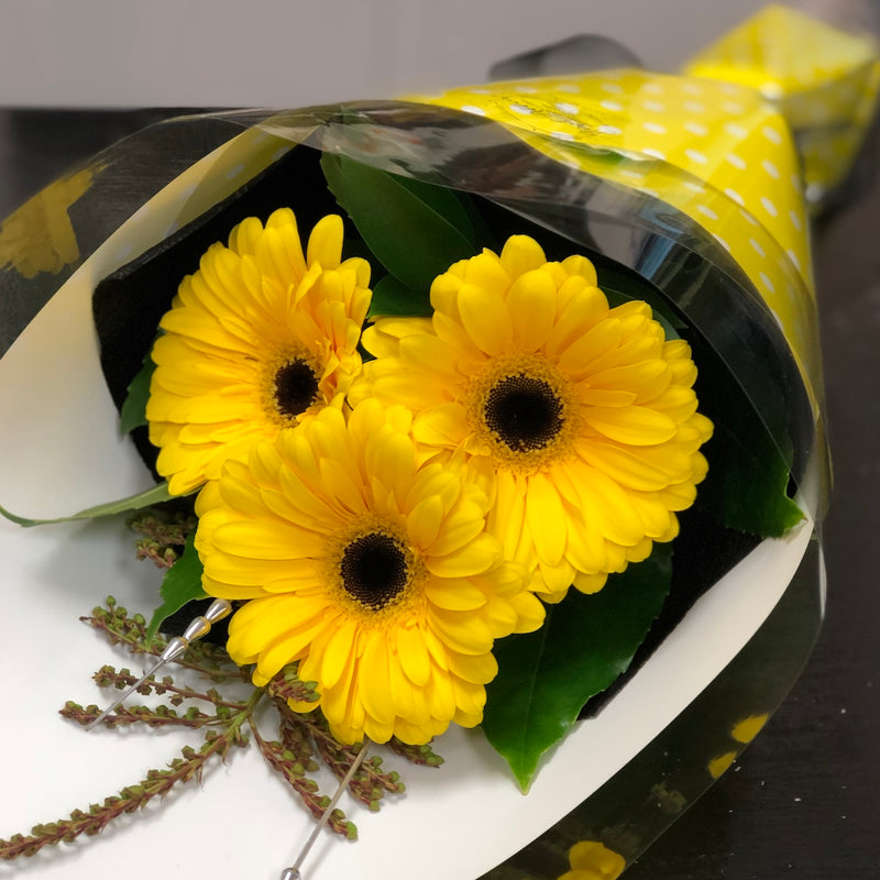 Triple Gerbera Bouquet - Floral Affaire
