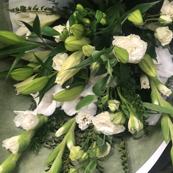 White & Green Bouquet - Floral Affaire