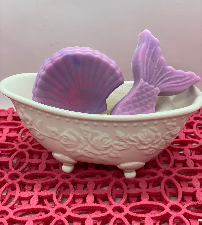 Mermaid Soap - Ivory Anchors