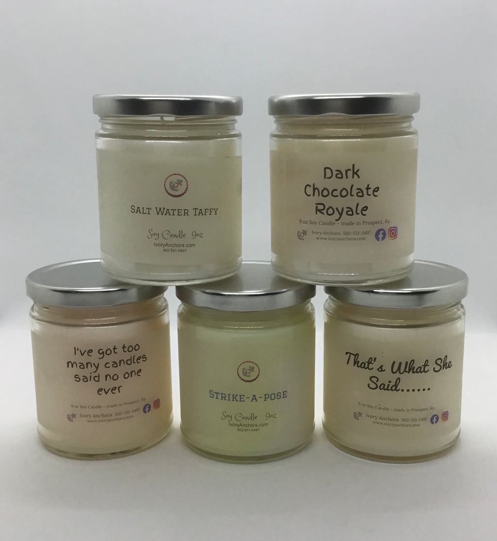Soy Candles- Small Jar - Ivory Anchors