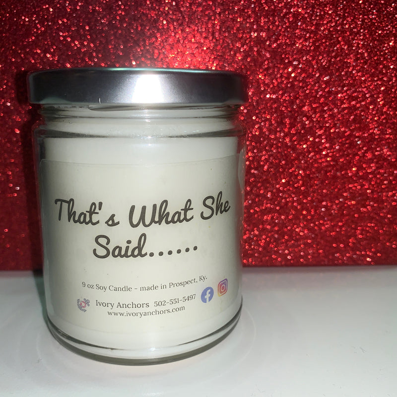 Custom Label Candle Line - Ivory Anchors