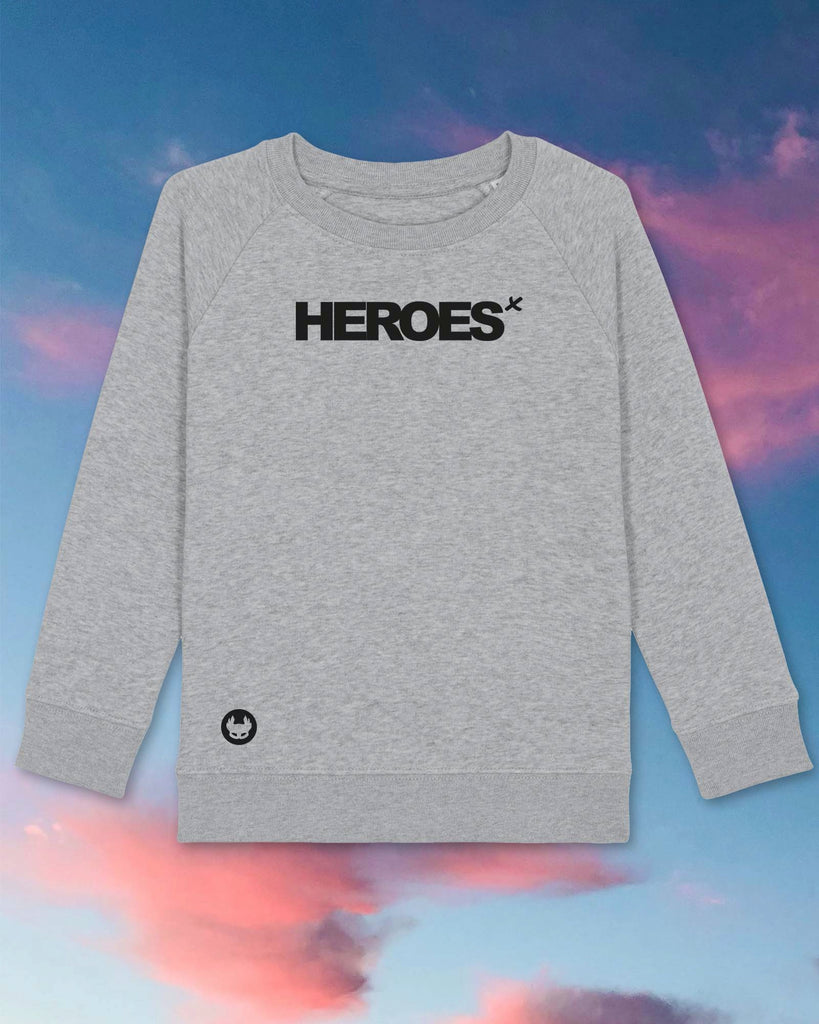 KIDS SWEATIE | SUPERHEROES | light grey