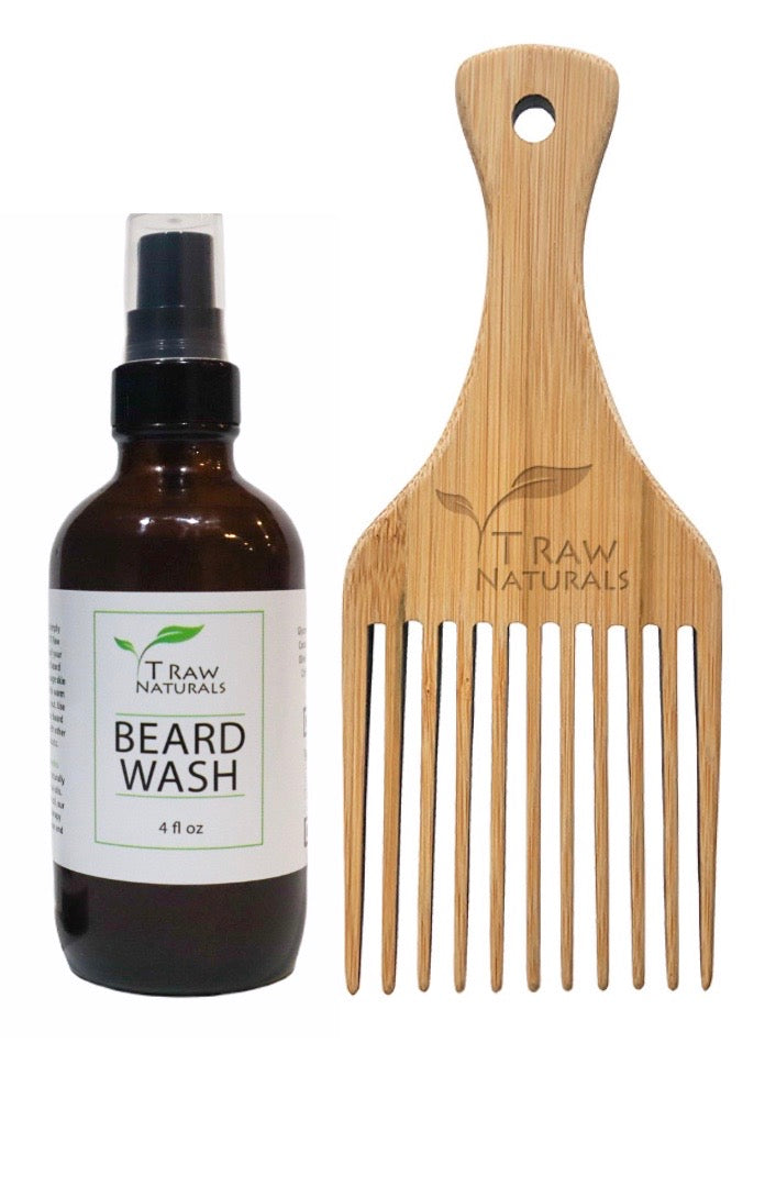Beard Wash + Wooden Comb