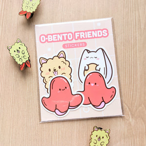 O-Bento Friends Weatherproof Stickers