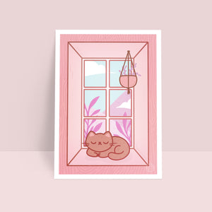 By the Window Art Print