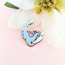 Load image into Gallery viewer, Tsundere Shark Enamel Pin