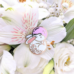 Space Rabbit—In Loving Memory—Charity Enamel Pin