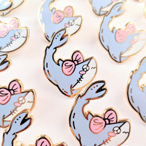 Tsundere Shark Enamel Pin