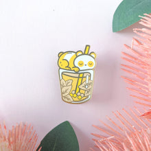 Load image into Gallery viewer, Pananda Milk Tea—Bubble Tea Enamel Pin