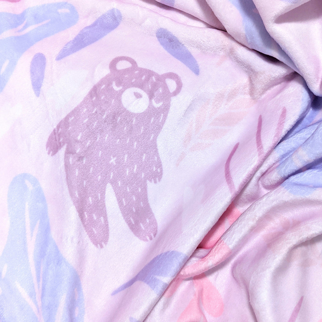 Lavender Bear Dreams Throw Blanket