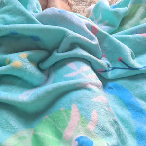 Little Dinosaurs Throw Blanket