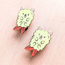 Load image into Gallery viewer, Crispy Pupura—Tempura Puppy Enamel Pin
