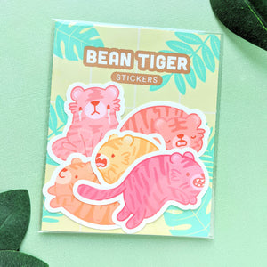 Bean Tigers Weatherproof Stickers