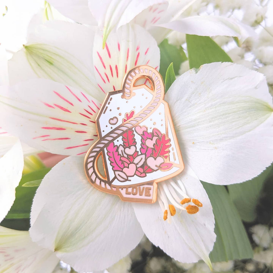Love Brew—Love Potion Tea Enamel Pin