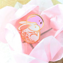Load image into Gallery viewer, Space Rabbit—In Loving Memory—Charity Enamel Pin