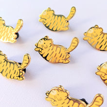 Load image into Gallery viewer, Bean Tigers—Chonky Enamel Pins