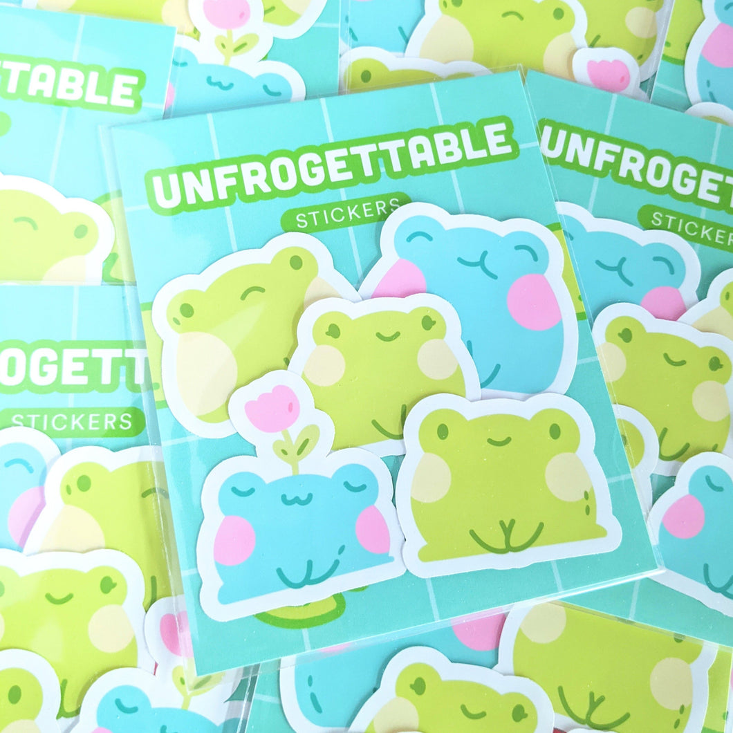 Unfrogettable Weatherproof Stickers