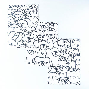 Cat Pile Colouring Page