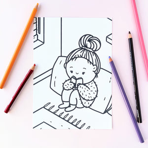 Little Reader Colouring Page