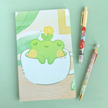 Load image into Gallery viewer, Sunday Soak Frog Notebook