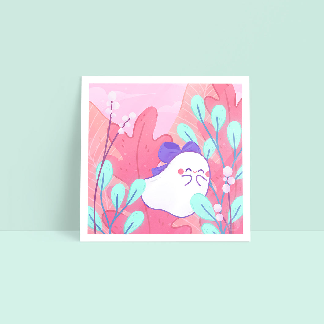 Bow—Little Ghost Art Print