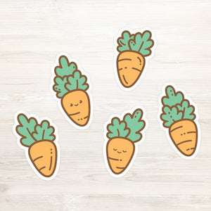 Chubby Carrots Weatherproof Stickers