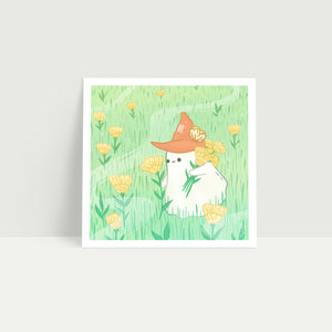 Picking Flowers—Little Ghost Art Print