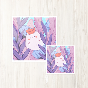 Albio the Forest Ghost Art Print