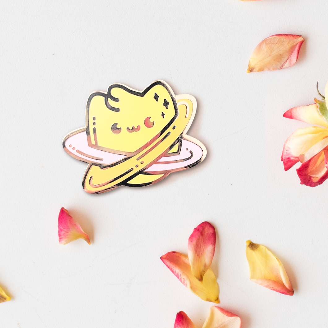 Jupicat—Meowky Way—Space Cat Planet Enamel Pin