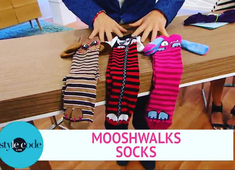 MooshWalks Socks on Style Code LIVE on Amazon.com