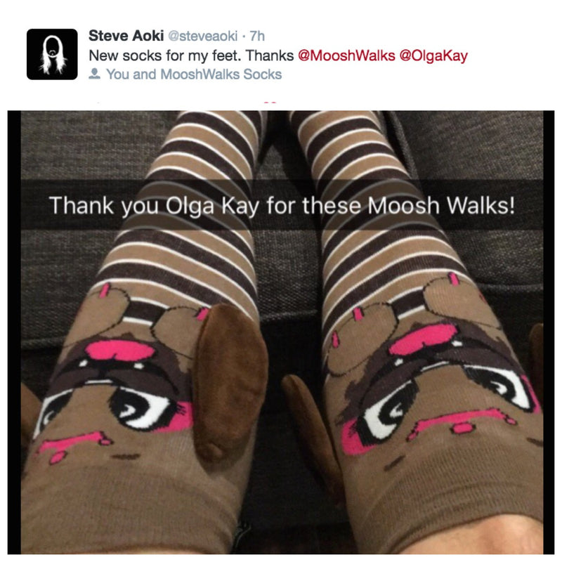 Steve Aoki is wearing MooshWalks Socks