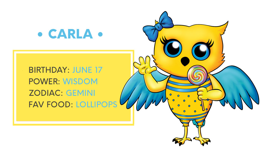 Carla wise owl  moosh walks character