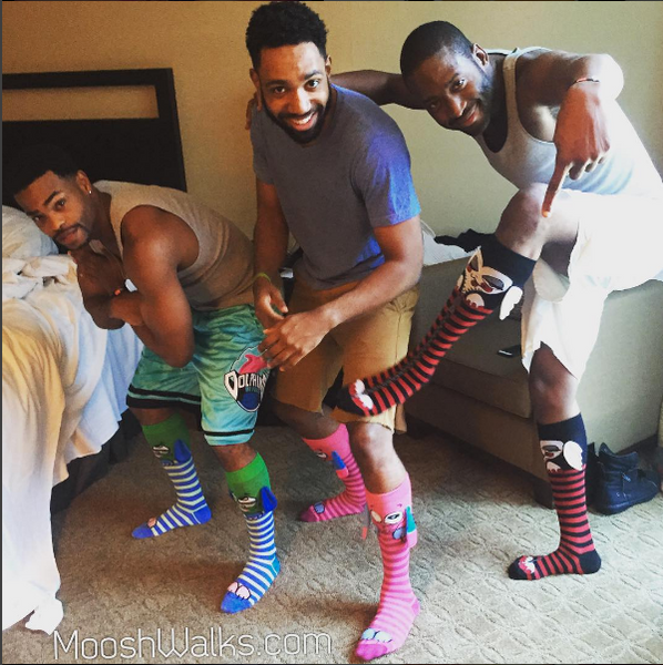 King Bach wearing socks